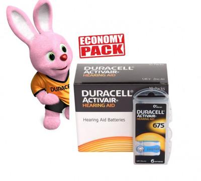 Baterii Duracell 675 pentru aparate auditive Economy Pack 60 baterii foto