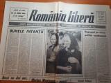 """Ziarul romania libera 4 august 1990-art. """" marian munteanu -acasa ! """""""
