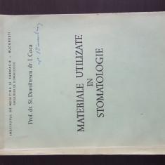 Materiale Utilizate in Stomatologie - St. Dumitrescu. 1979