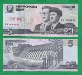 = COREA DE NORD - 5 WON - 2002 - SPECIMEN - UNC   =
