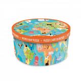 Puzzle de podea Scratch, Animalele lumii, 36 piese
