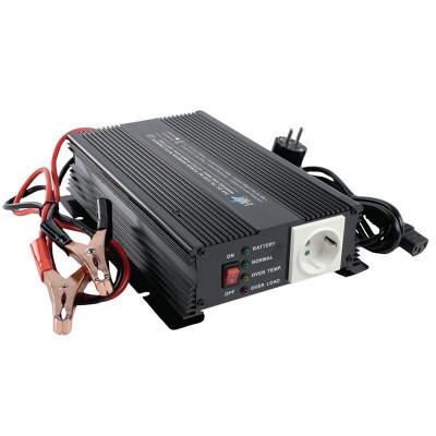 Invertor de tensiune HQ, 24V-230V, 600 W, incarcator baterie incorporat foto