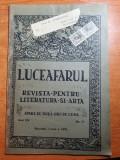 luceafarul 1 iunie 1919-art. si foto barbu s. delavrancea,lucian blaga
