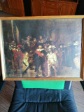Tablou Rond de noapte - Rembrandt, reproducere., Scene lupta