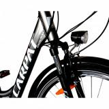 Bicicleta electrica City E-BIKE C1010E roata 28 inch negrualb, CARPAT