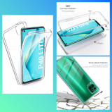 Husa protectie 360° fata + spate pt. Huawei P40 lite , P40 Lite 5G , P40 Lite E, Alt model telefon Huawei, Transparent, Silicon