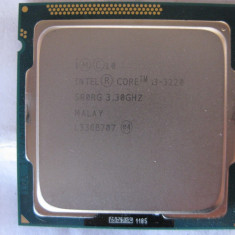 Procesor Intel Core i3 3220 SRORG 3.30 ghz  socket  1155 , functional, Intel 3rd gen Core i3, Peste 3000 Mhz