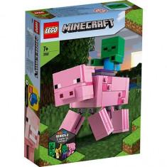 LEGO Minecraft - Porc cu Bebelus Zombi 21157