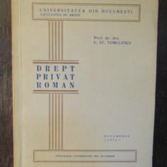 DREPT PRIVAT ROMAN-C.ST.TOMULESCU