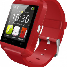 Smartwatch iUni U8+, BT, LCD 1.44 inch, Notificari, Rosu