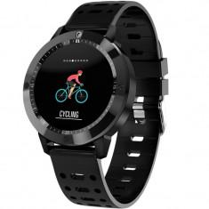 Bratara Fitness iUni CF58, Display OLED, Bluetooth, Pedometru, Monitorizare Puls, Notificari, Negru