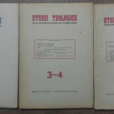 Studii teologice, revista institutelor teologice// 1951, nr 1-6