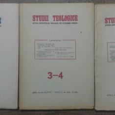 Studii teologice, revista institutelor teologice// 1951, nr 1-6