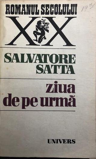 Ziua de pe urma Salvatore Satta
