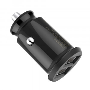 Incarcator Auto Baseus Grain Mini Universal Smart Car Charger 2x USB 3.1A, Negru