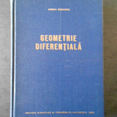 Andrei Dobrescu - Geometrie diferentiala