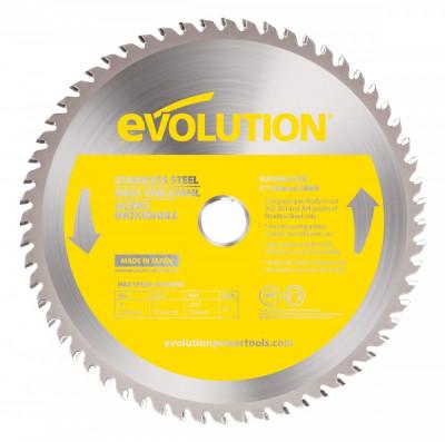 Disc pentru fierastrau circular taiere inox Evolution EVOEVOBLADE230SS 0477 O230 x 25.4 mm 60 dinti foto