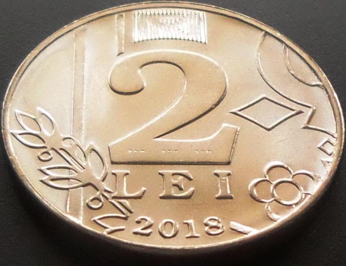 Moneda 2 LEI - Republica MOLDOVA, anul 2018  *cod  2892 - UNC DIN FASIC BANCAR!