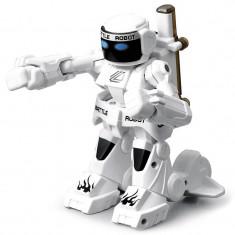 Robot de jucarie luptator Kingcraft, cu telecomanda, alb
