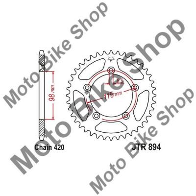 MBS Pinion spate 420 Z46, Cod Produs: JTR89446 foto