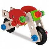Cumpara ieftin Set constructie din lemn Play Eichhorn Motorcycle 40 piese