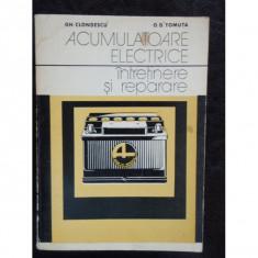 ACUMULATOARE ELECTRICE - GH. CLONDESCU
