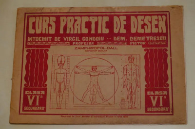 Curs practic desen 1935 intocmit de Profesor VIRGIL CONDOIU foto
