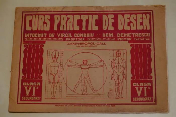 Curs practic desen 1935 intocmit de Profesor VIRGIL CONDOIU