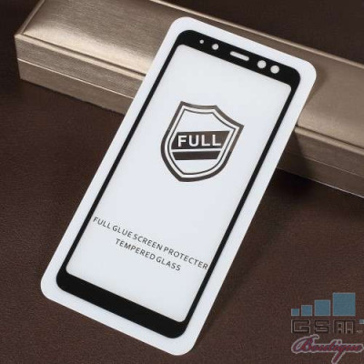 Geam Protectie Display Samsung Galaxy A8 2018 Acoperire Completa 2,5D Negru foto
