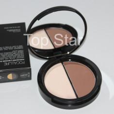Paleta pudra contur + iluminator Focallure Duo Highlighter & Bronzer
