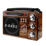 Radio Mp3 portabil, vintage, USB, SD, mufa jack, acumulator, Waxiba