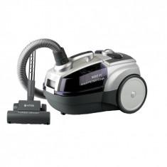 Aspirator cu filtrare prin apa VITEK VT-1833, 1800 W, sistem Aqua Clean, filtru HEPA lavabil, 5 trepte de filtrare, recipient 3,5 l, Turbo Bush, puter