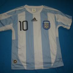 TRICOU DE FOTBAL DE COPII ARGENTINA MESSI ORIGINAL, S, Din imagine, Nationala