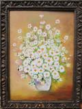 Tablou / Pictura flori albe semnat Cimpoesu