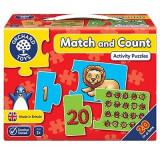 Puzzle Potriveste si numara de la 1 la 20 MATCH AND COUNT, orchard toys