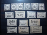 GERMANIA / BAVARIA TIMBRE DE RETUR 1865/1870 MH, Nestampilat