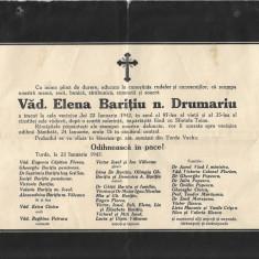 Necrolog Elena Baritiu nascuta Drumariu 1942 Turda