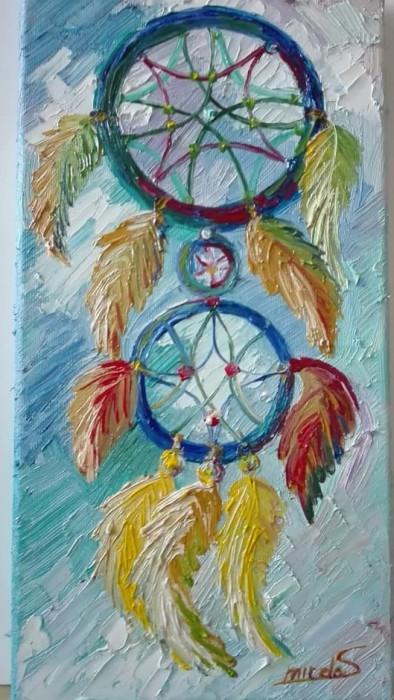 Tablou pictura in ulei Prinzator de vise 20/40 cm