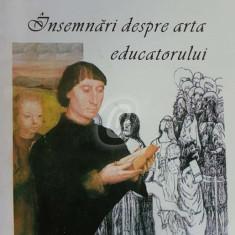 Insemnari despre arta educatorului