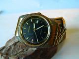 Ceas barbatesc SEKONDA , placat cu aur , cu data