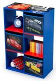 Organizator cu cadru lemn pentru carti si jucarii Copii Cars
