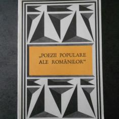 V. ALECSANDRI - POEZII POPULARE ALE ROMANILOR