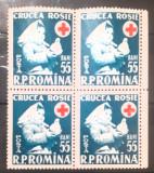 Cumpara ieftin Romania 1957 Lp 438  bloc de 4 timbre Crucea rosie