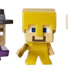 Set Figurine Minecraft 3 Pack Witch Steve Gold Armour Iron Golem