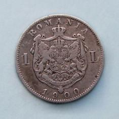 ROMANIA  -  1 Leu 1900  -  Argint 5 g.