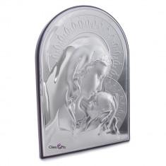 Cumpara ieftin Icoana Argintata Maica Domnului si Pruncul 9.5x13.5cm Cod Produs 325