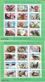Colite Rezervatii naturale din Europa - fauna si flora (blocuri), 1987 - NEOBL., Protectia mediului, Nestampilat