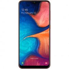 Galaxy A20 Dual Sim 32GB LTE 4G Portocaliu Coral 3GB RAM, Neblocat, Smartphone, Micro SD