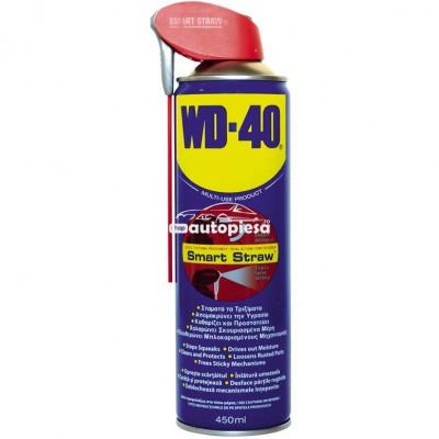 Spray lubrifiant multifunctional WD40 Smart Straw 450 ml 780003 foto
