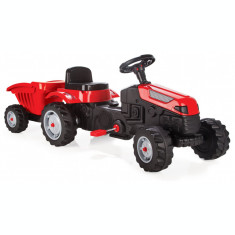 Tractor copii cu pedale si remorca Pilsan Active Rosu